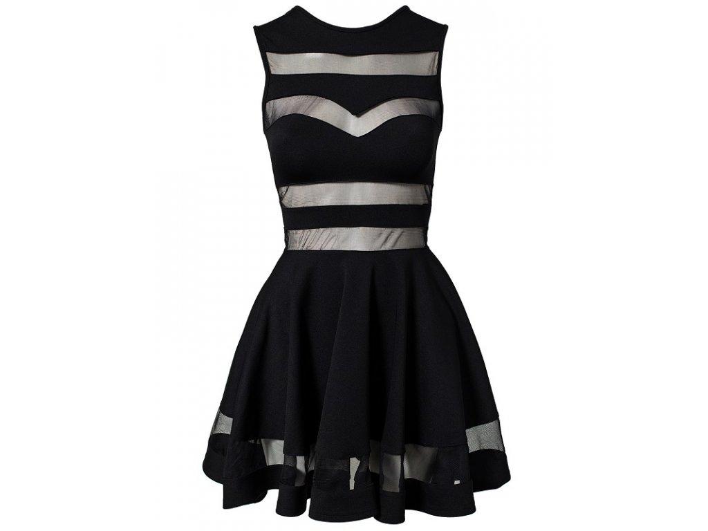 A Společenské šaty krátké s průhledy OH331