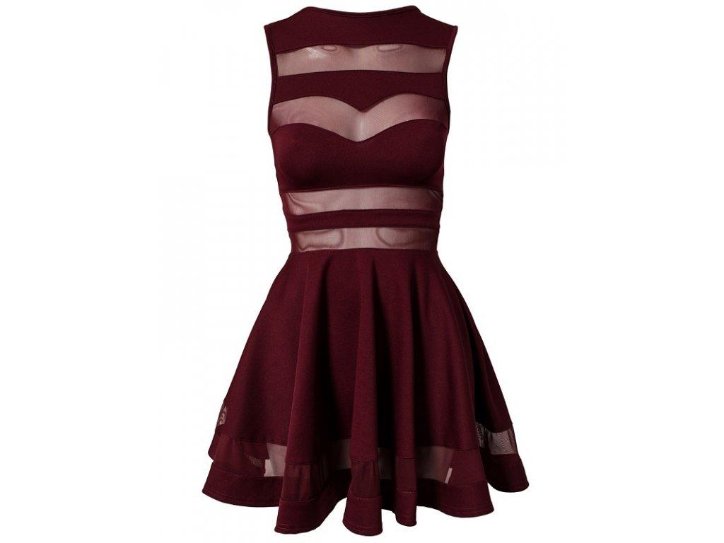 A Společenské šaty krátké s průhledy OH335
