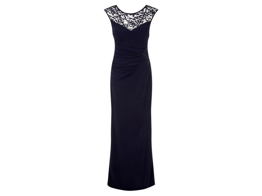 A Dlouhé modré elegantní šaty 80204