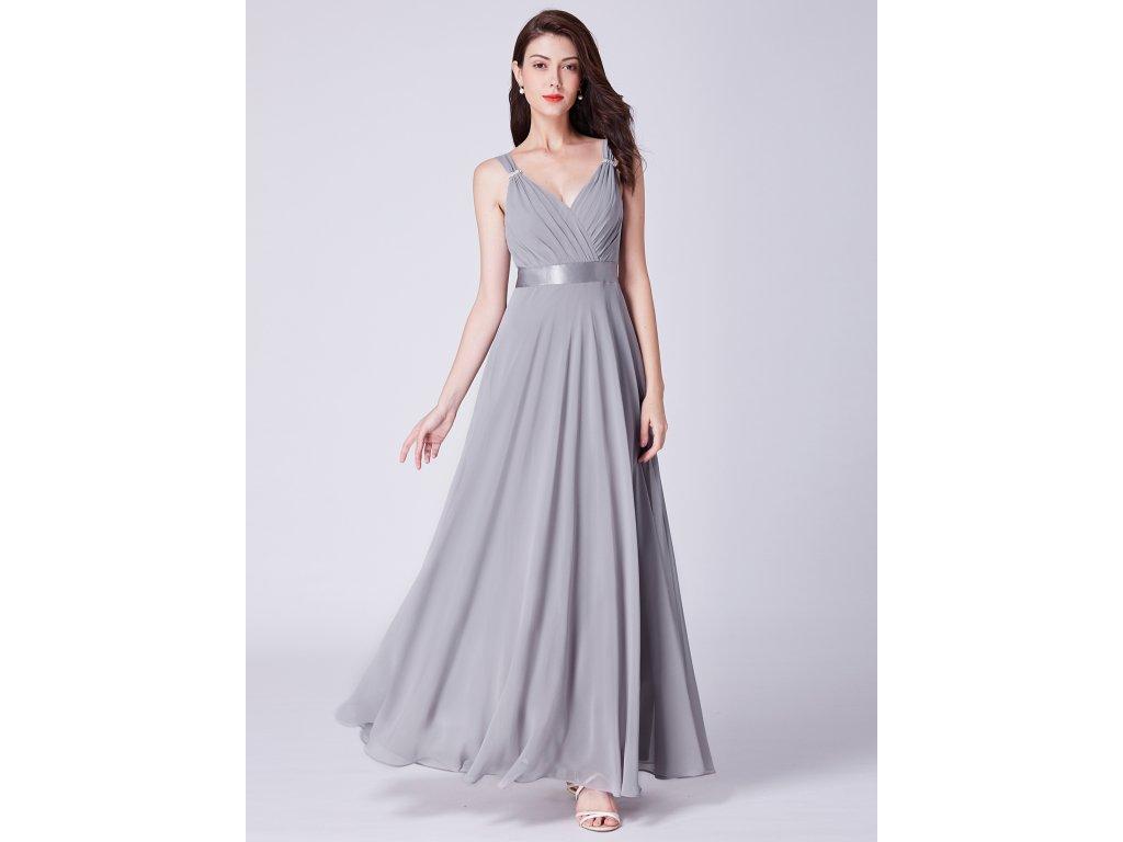 323d709823b7 Dámské elegantní plesové šaty Ever Pretty šedé 7502 - trendy-obleceni.cz
