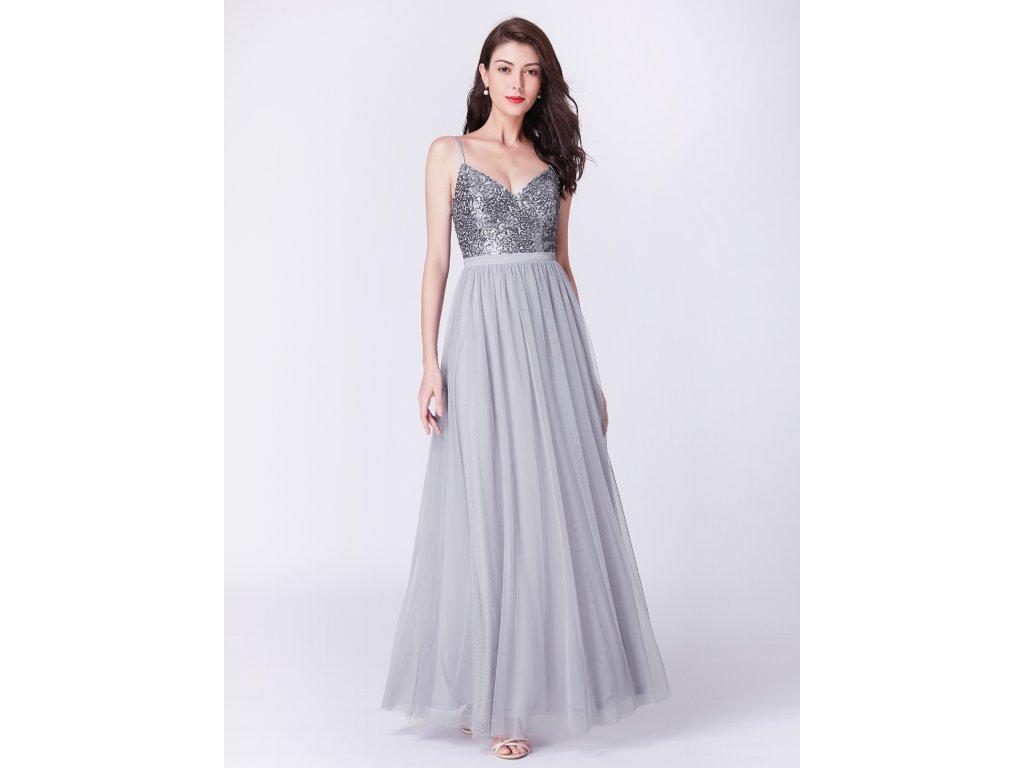 3dc5c8ad252 Dámské luxusní plesové šaty Ever Pretty šedé 7392 - trendy-obleceni.cz