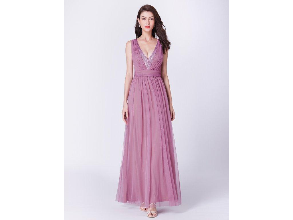 e1d7dd2a1fe2 Dámské luxusní plesové šaty Ever Pretty růžové 7455 - trendy-obleceni.cz