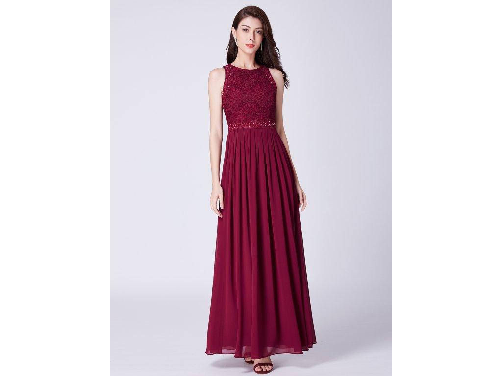 Dámské elegantní plesové šaty Ever Pretty bordó 7391 - trendy ... 98364f795b
