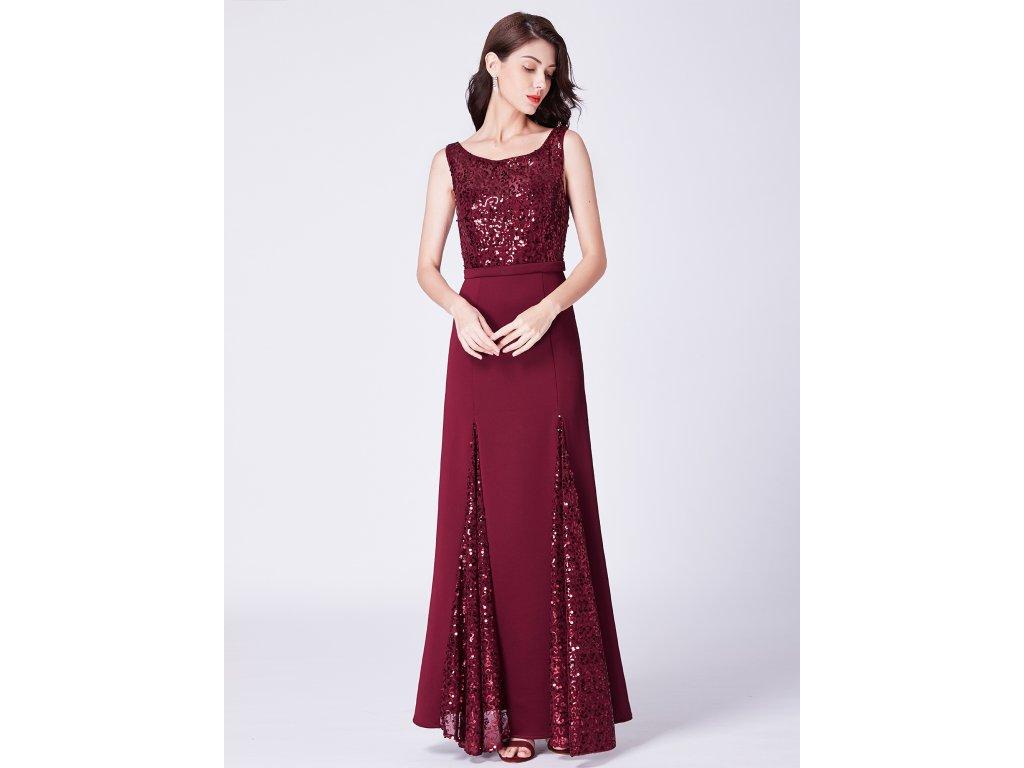 6dbc39ed2e6d Dámské luxusní plesové šaty Ever Pretty bordó 7401 - trendy-obleceni.cz