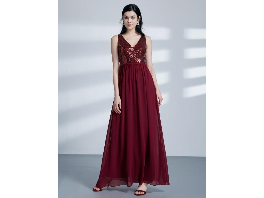ae4f420a291a Dámské luxusní plesové šaty Ever Pretty bordó 7346 - trendy-obleceni.cz
