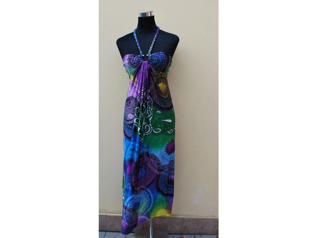 A Letní šaty dlouhé vzorované 0102