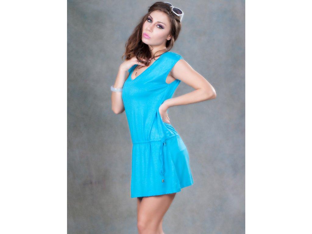 A Plážové šaty modré OH041
