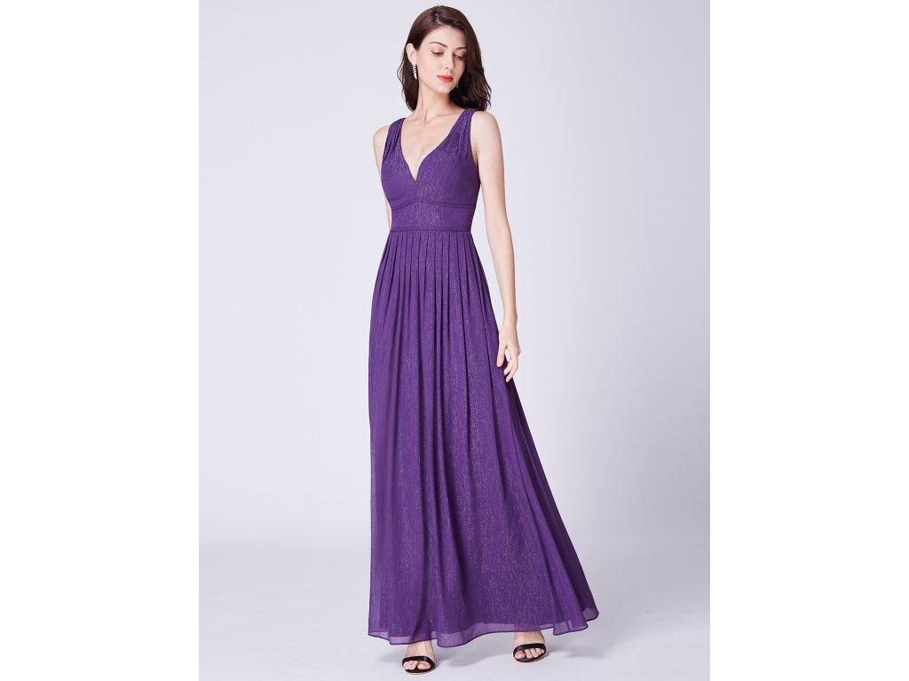 c7316314ec09 Luxusní dlouhé fialové šaty Ever Pretty 7465 - trendy-obleceni.cz