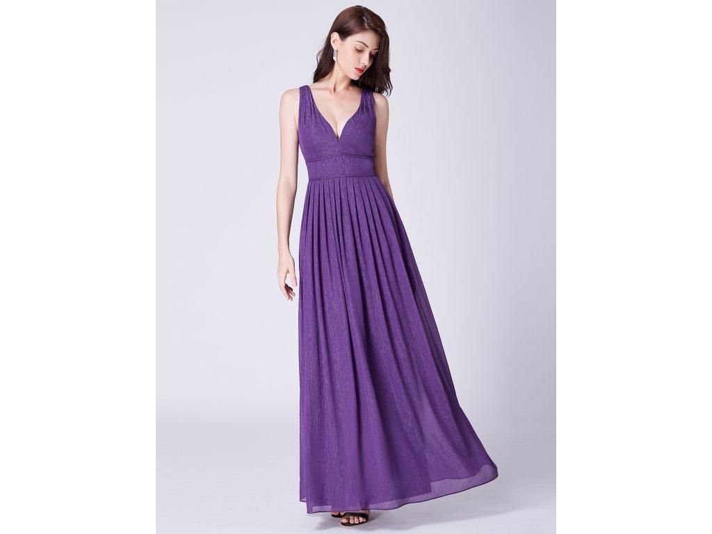 Luxusní dlouhé fialové šaty Ever Pretty 7465 - trendy-obleceni.cz 599b1d8596