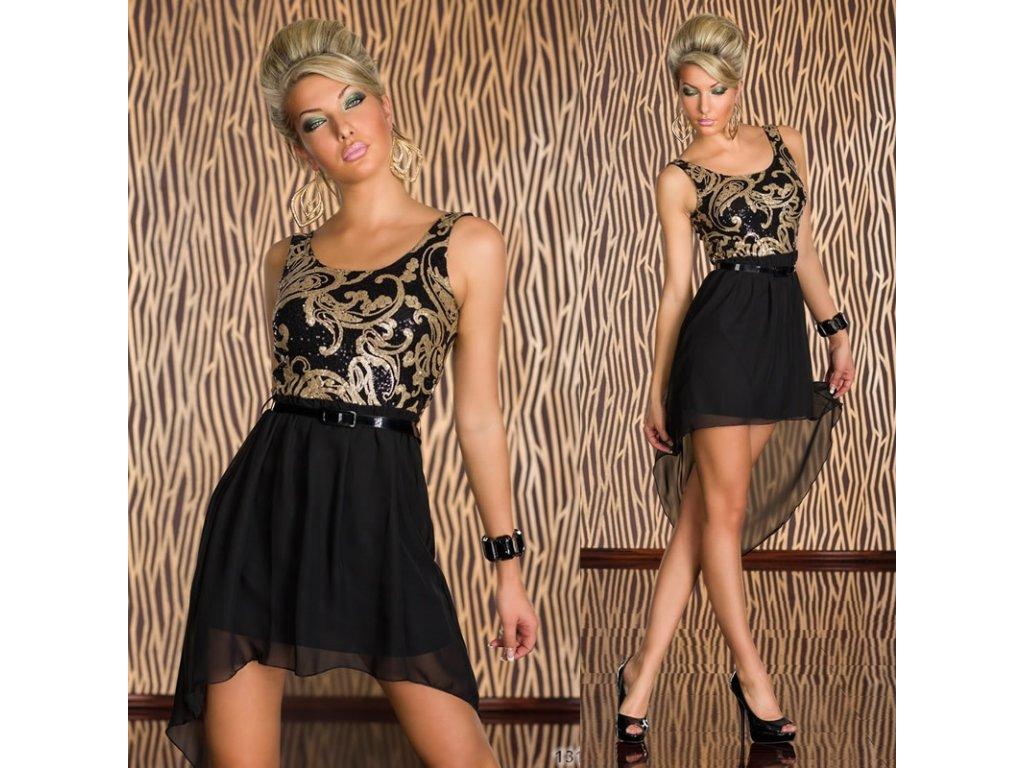 A Plesové šaty s flitry zlaté černé