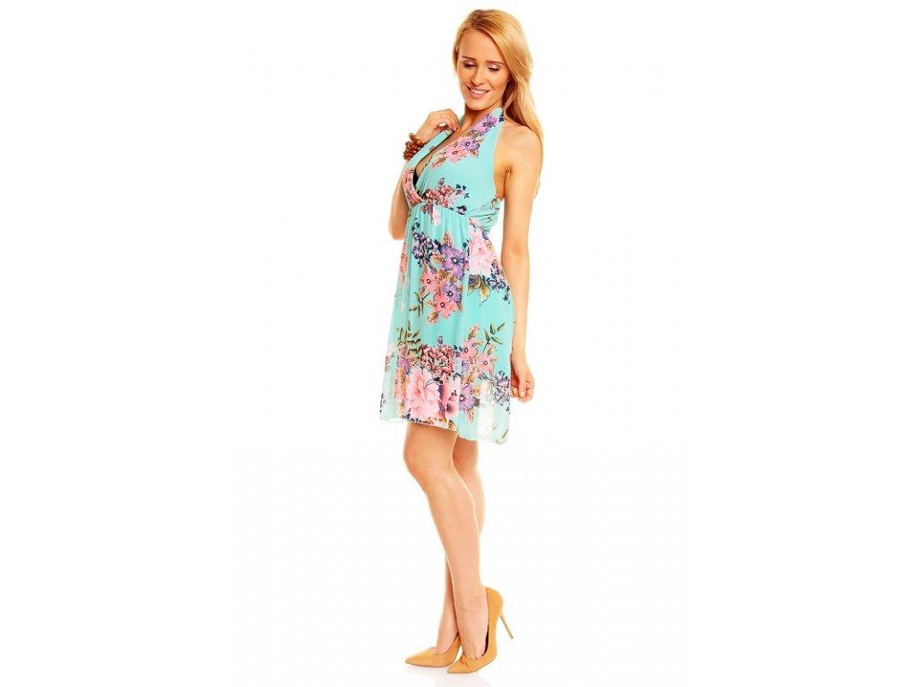 05c9c2aa5bb A Letní šaty mentolové květované · A Letní šaty mentolové květované ...