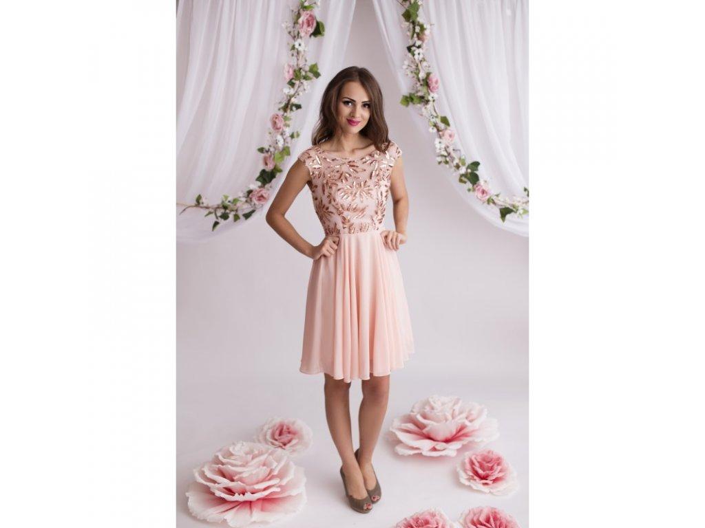 Eva   Lola Dámské růžové šaty krátké 1298 Lucy - trendy-obleceni.cz 30f982df97