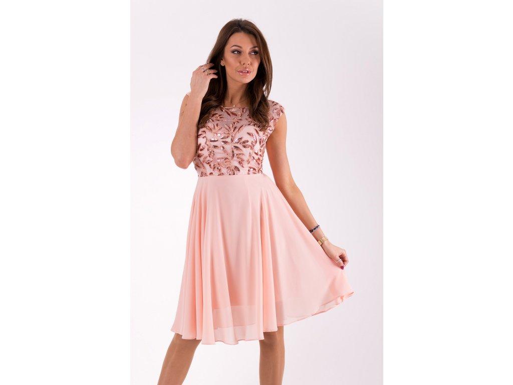 1802ccd3a822 Eva   Lola Dámské růžové šaty krátké 1298 Lucy - trendy-obleceni.cz