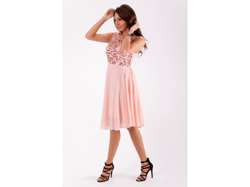 Eva   Lola Dámské růžové šaty krátké 1298 Lucy - trendy-obleceni.cz 75368d04221