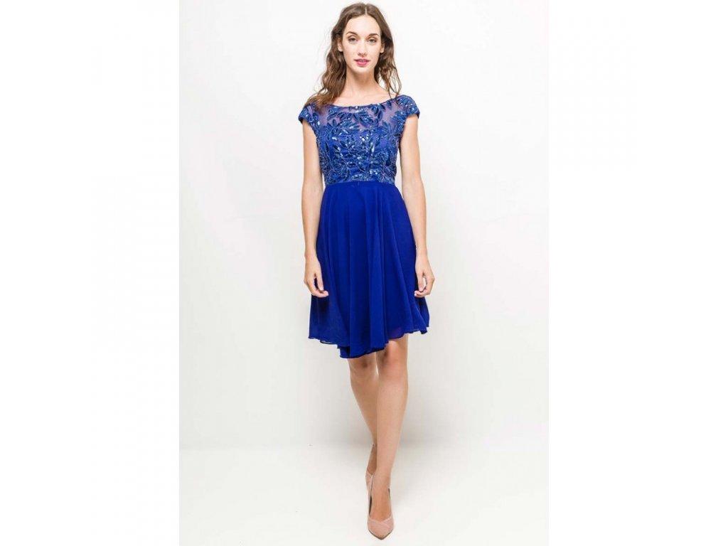 Eva   Lola Dámské modré šaty krátké 1298 Lucy - trendy-obleceni.cz 1da207f26b6