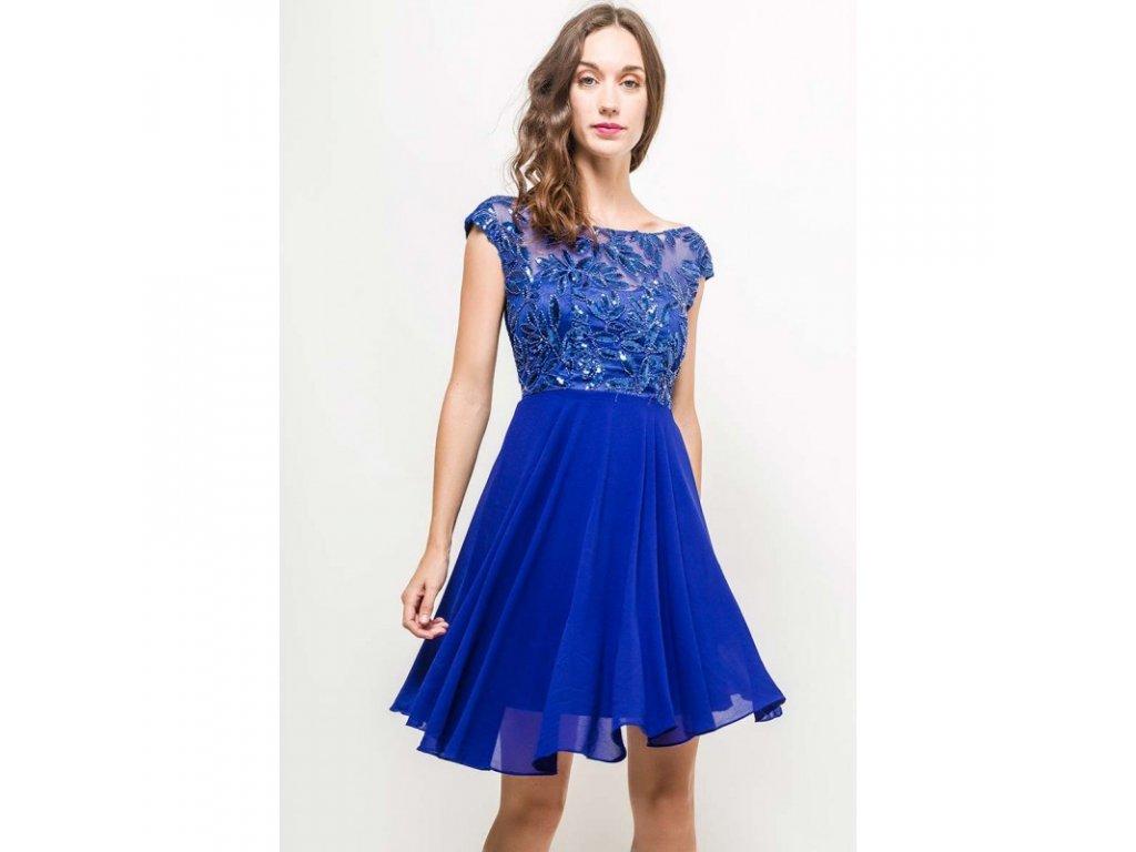 Eva   Lola Dámské modré šaty krátké 1298 Lucy - trendy-obleceni.cz 915c56a0af