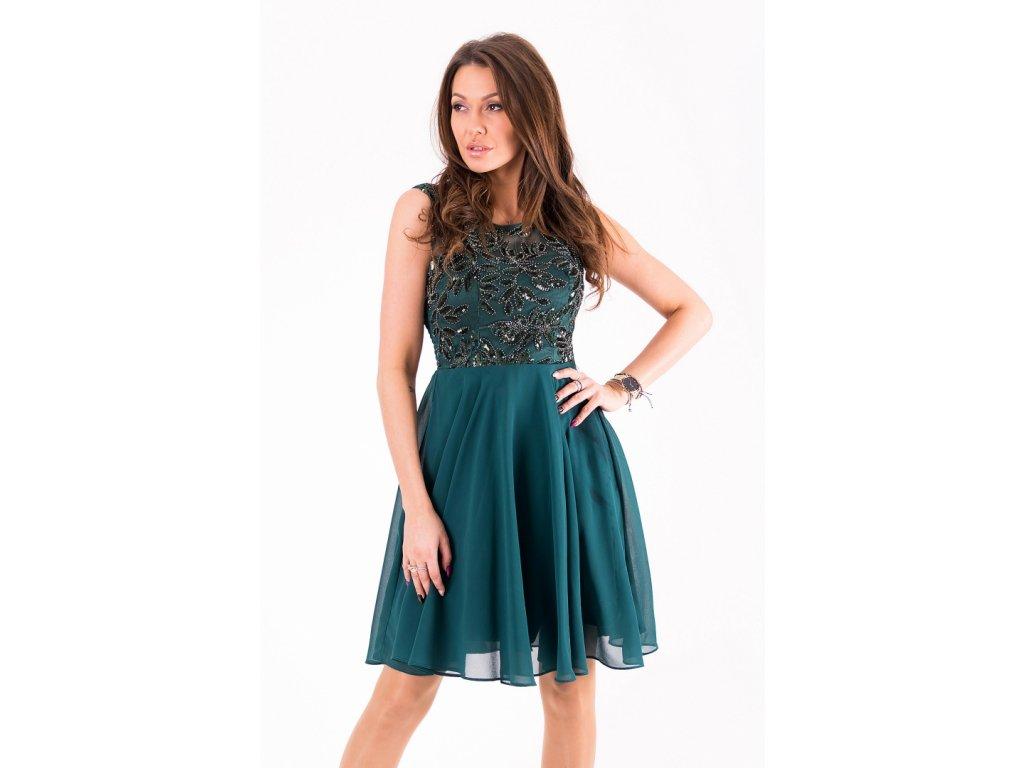 Dámské krátké zelená šaty Eva   Lola 1298 Lucy - trendy-obleceni.cz b40ae8e496c