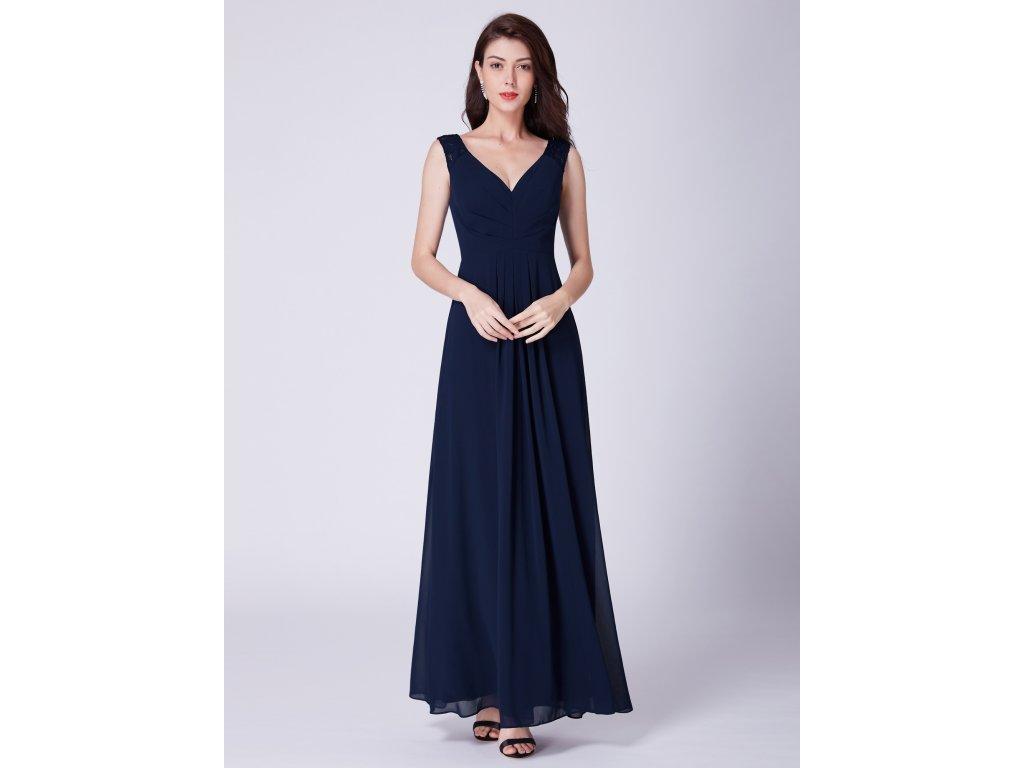 Ever Pretty tmavě modré dlouhé šaty 7420 - trendy-obleceni.cz ef42ae09e5