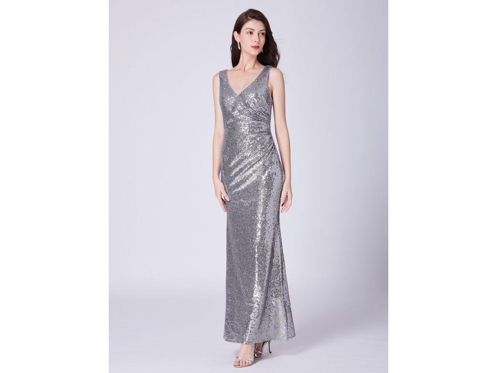 cf7358ccdf5 Ever Pretty stříbrné flitrované šaty 7405 - trendy-obleceni.cz