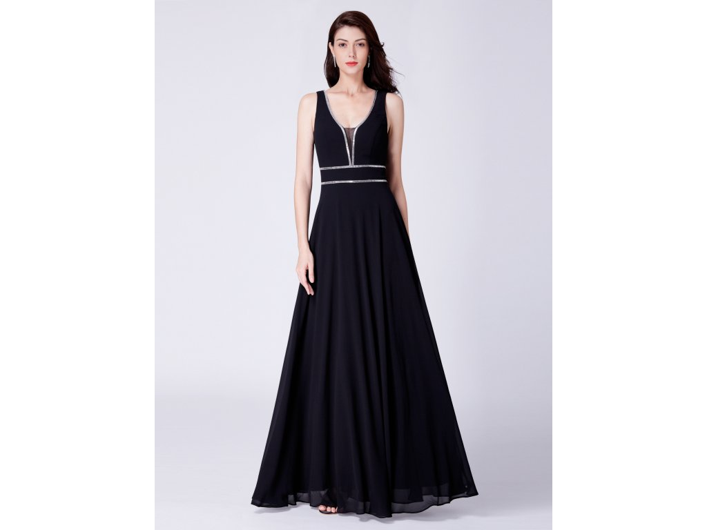 c50db21244d Ever Pretty dlouhé plesové šaty černé 7442 - trendy-obleceni.cz