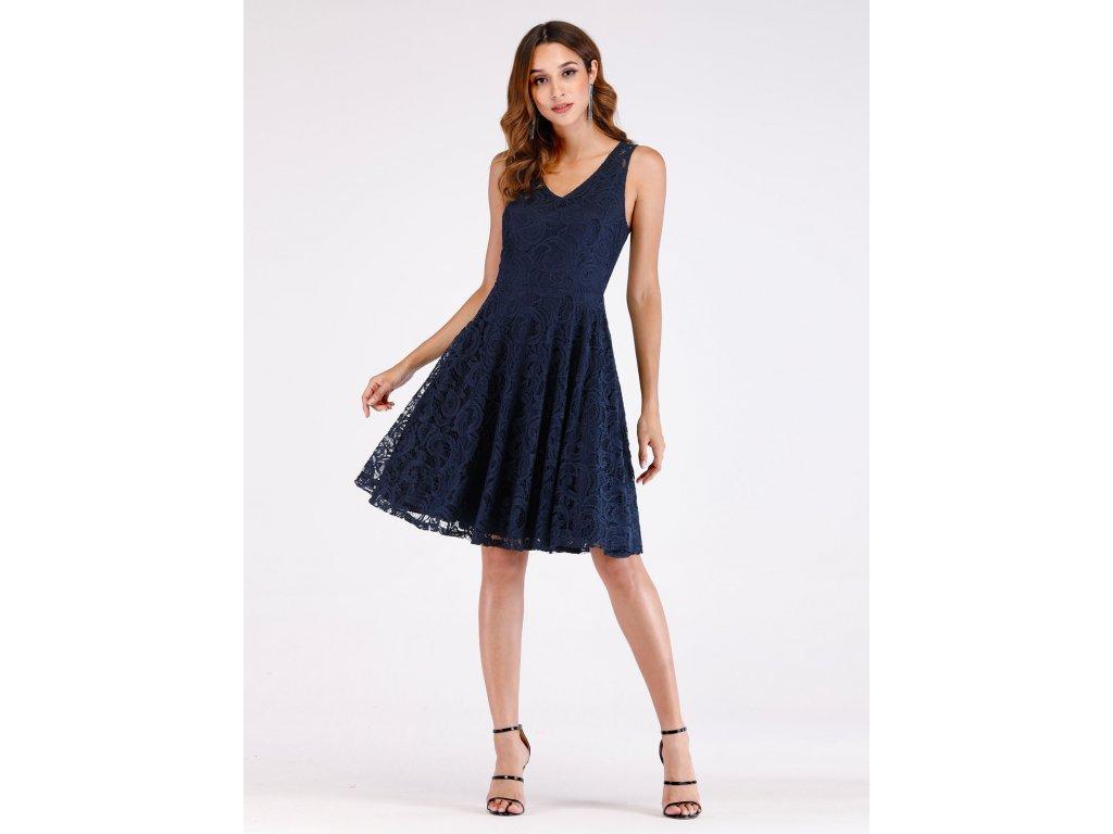 Ever Pretty krátké modré krajkové šaty 3065 - trendy-obleceni.cz f63732f01aa