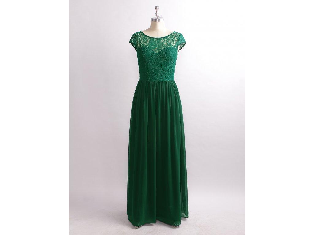 98e46ec4c5b Luxusní zelené šaty s krajkou 7552 - trendy-obleceni.cz