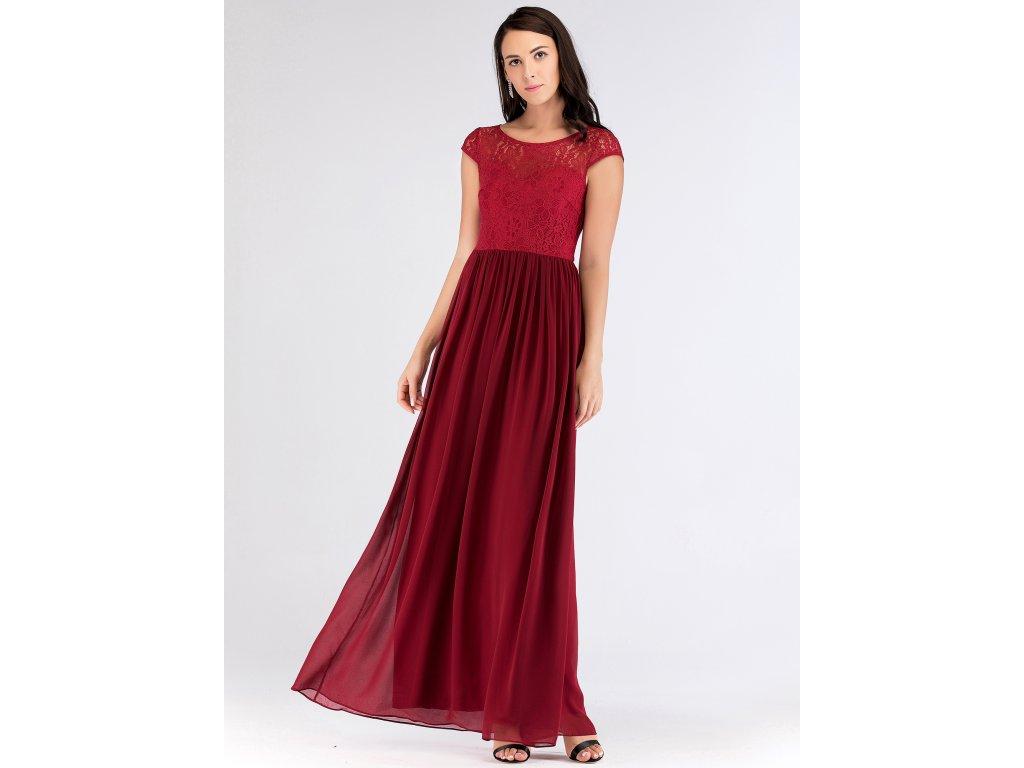 Luxusní červené šaty s krajkou 7552 - trendy-obleceni.cz b09cf4c977a