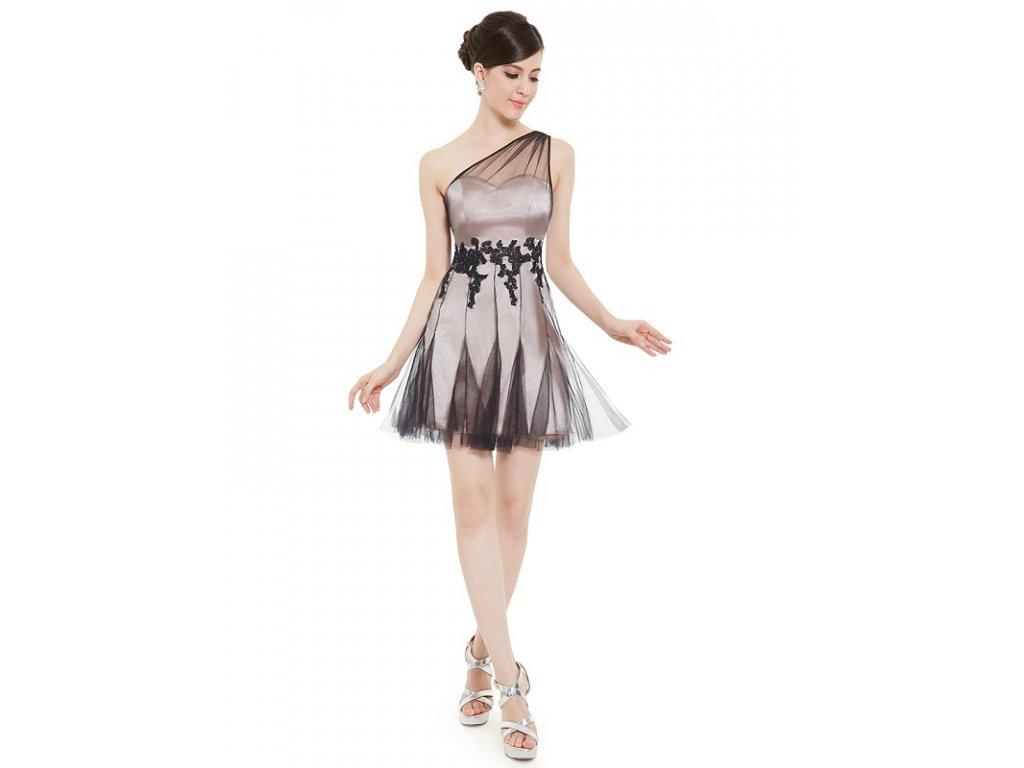 b018bf6fff8 Luxusní šaty satén s krajkou společenské 5261 - trendy-obleceni.cz