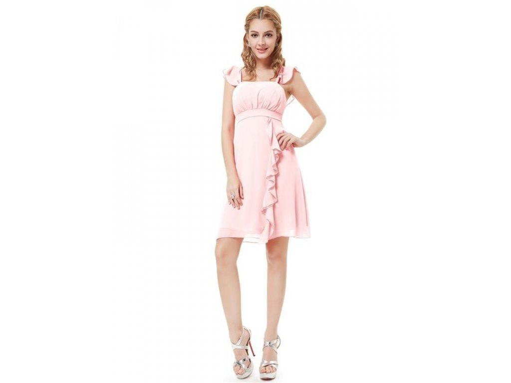 Ever Pretty šaty do tanečních, plesové jemně růžové 3337