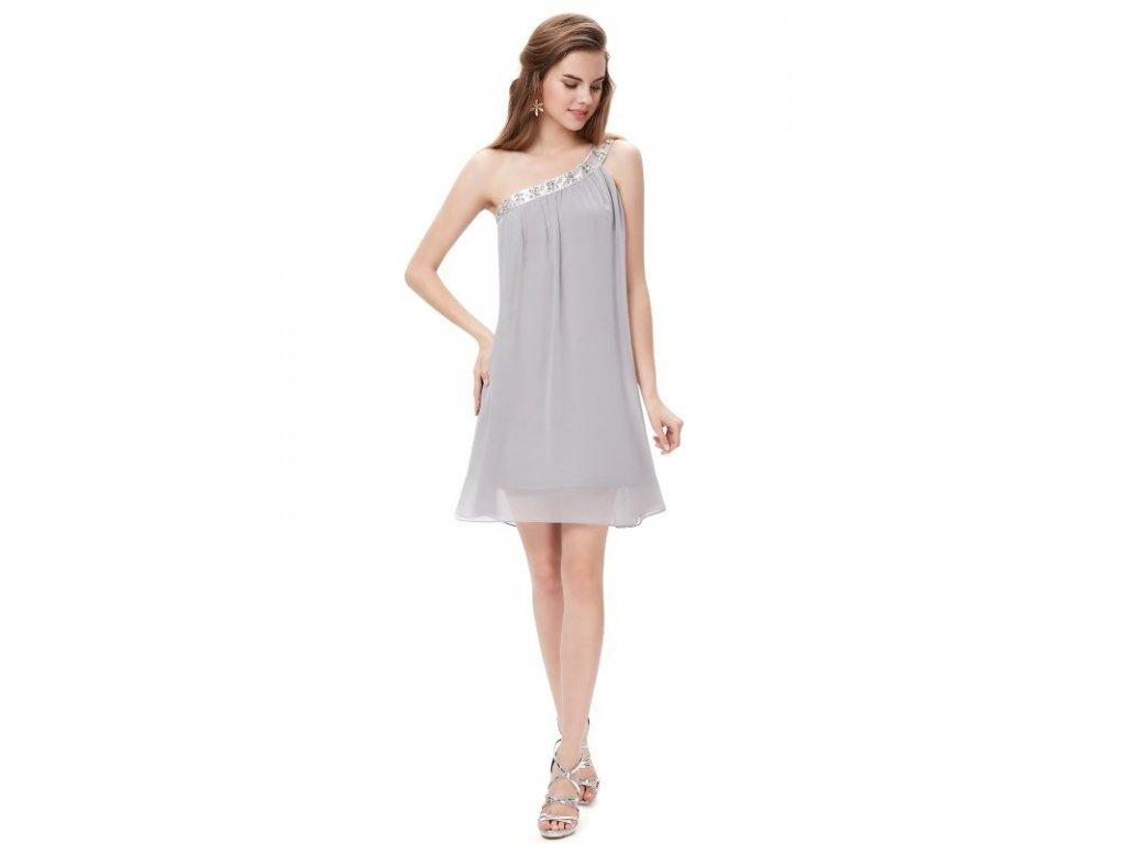 Ever Pretty šifonové šaty krátké šedé 3388
