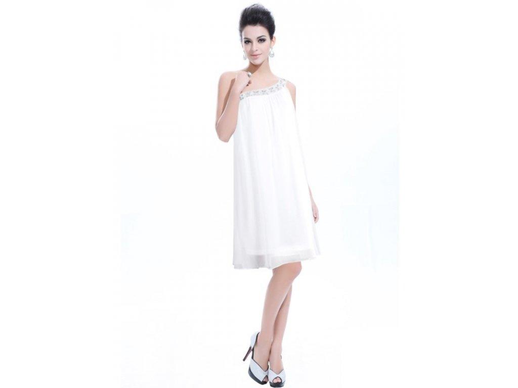 Ever Pretty šifonové šaty krátké bílé 3388