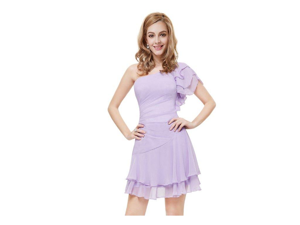 Ever Pretty krátké šaty fialové 3645