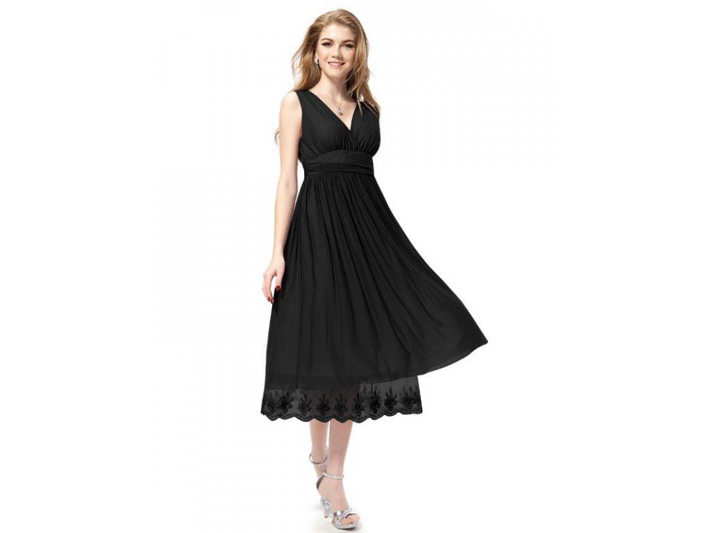 Šaty s krajkou černé společenské Ever Pretty 0279