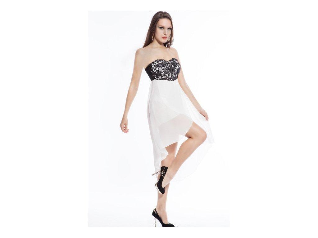 A Plesové šaty bílé s výšivkou