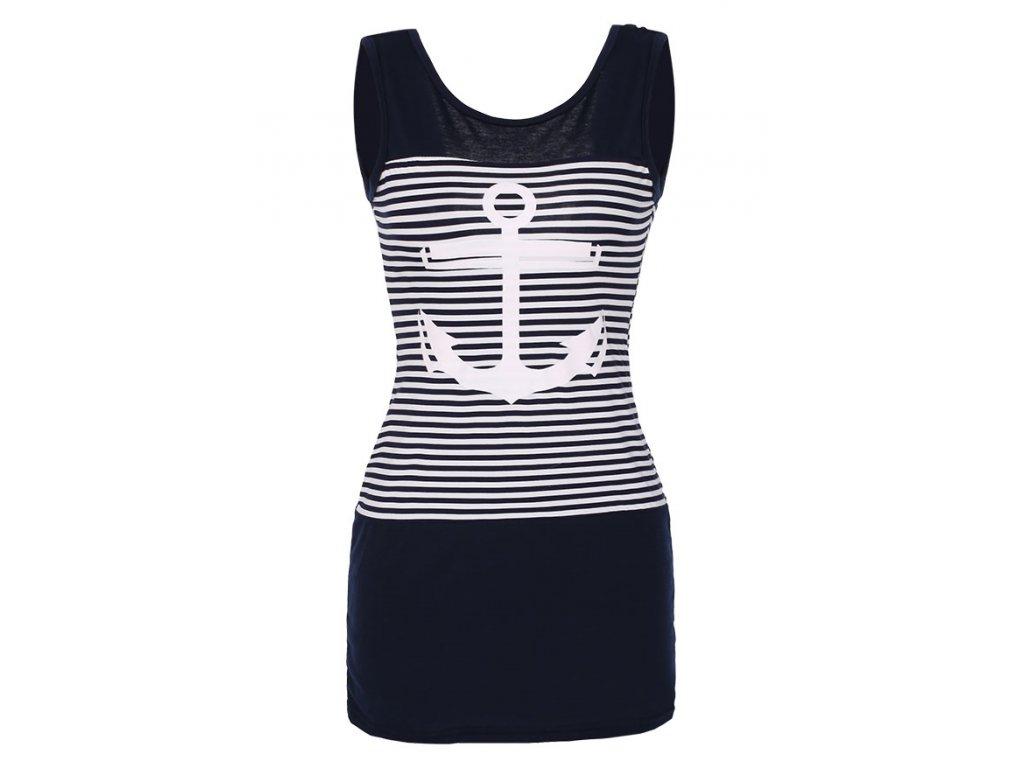 Letní tunika, tričko dlouhé námořnické kotva