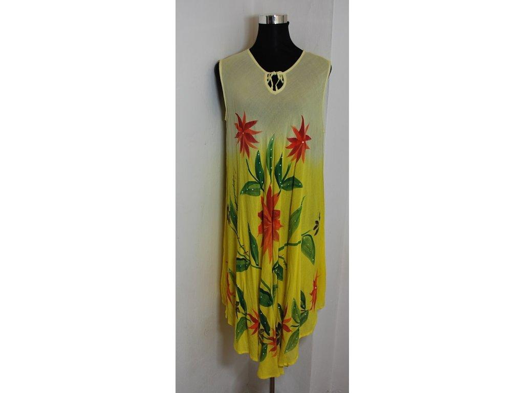 Šaty letní s květy trendy XL/ XXL