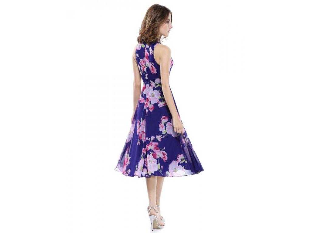 cd9974ab1f4 Ever Pretty luxusní letní šaty fialové s květy 5452 - trendy-obleceni.cz