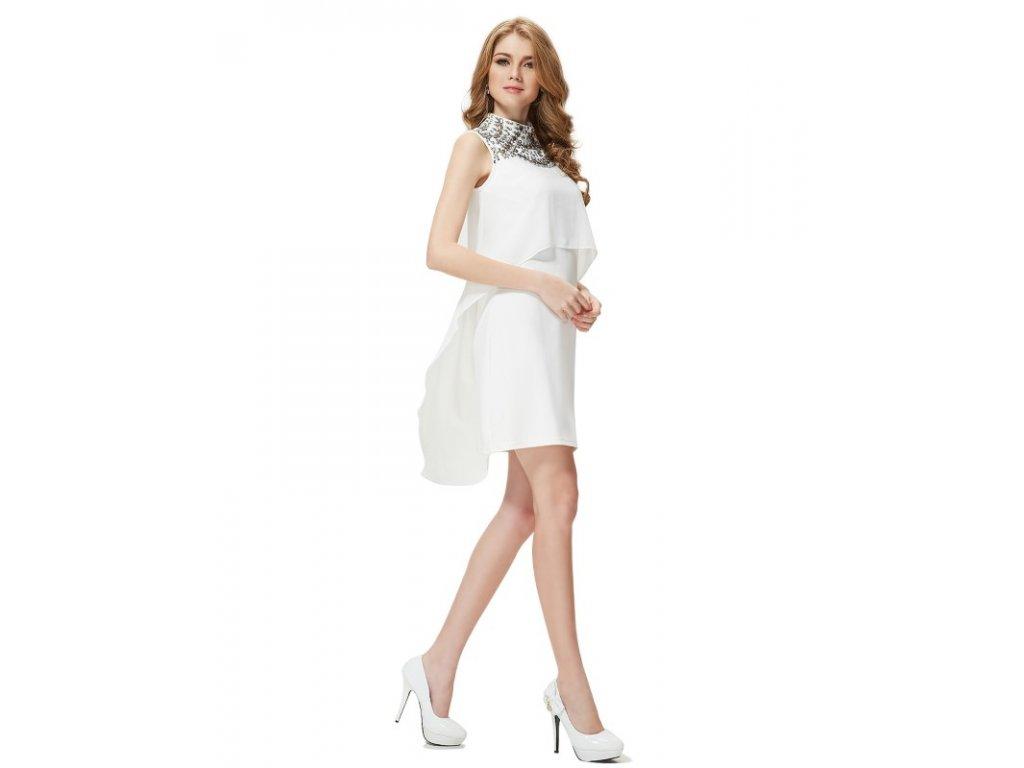 Ever Pretty šaty krátké bílé volné 5127