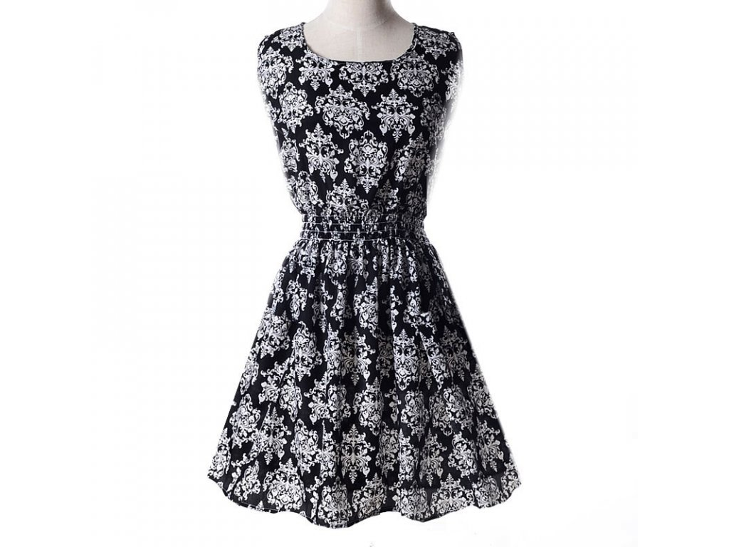 A Letní krátké šaty černé vzory 18