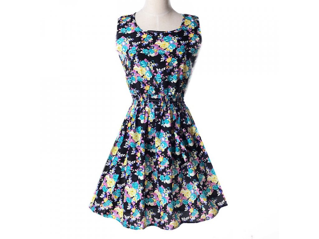A Letní krátké šaty černé vzory 17