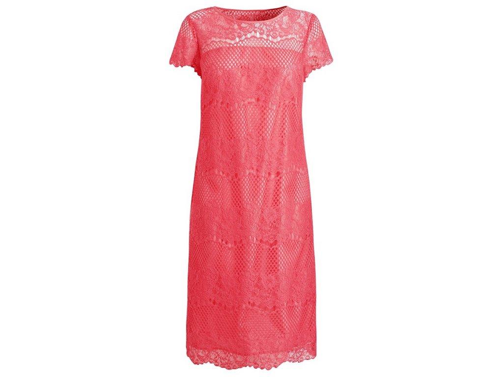 A Elegantní pouzdrové šaty krajkované