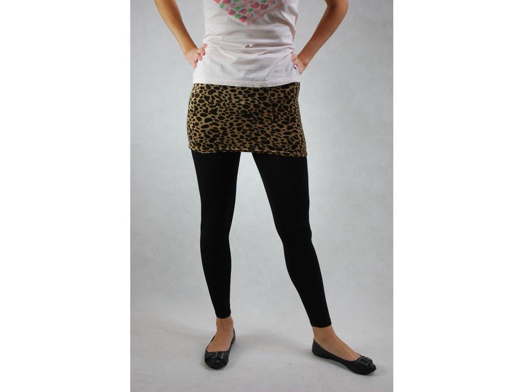 7476cb33bdf Legíny se sukní černé vzor gepard - trendy-obleceni.cz