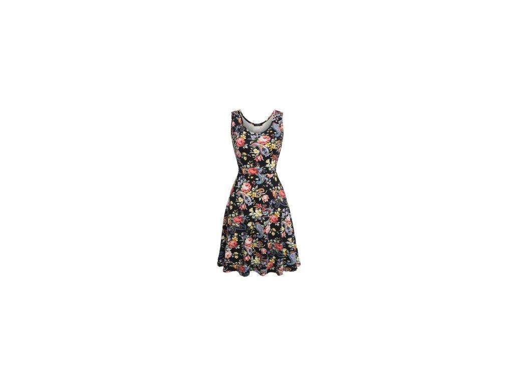 A Letní šaty krátké květované 3575
