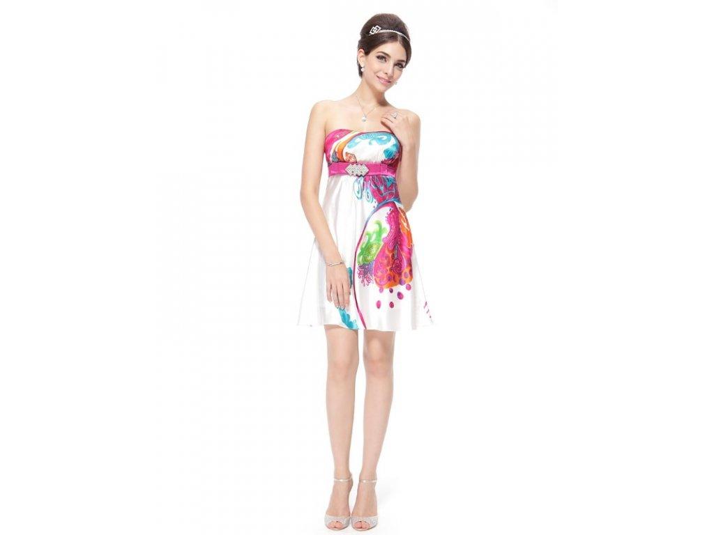 Luxusní šaty satén originální vzory 3384
