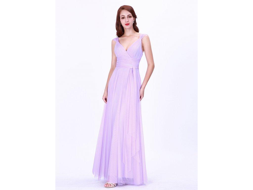 Luxusní dlouhé šaty 7303 fialkové - trendy-obleceni.cz c108741755