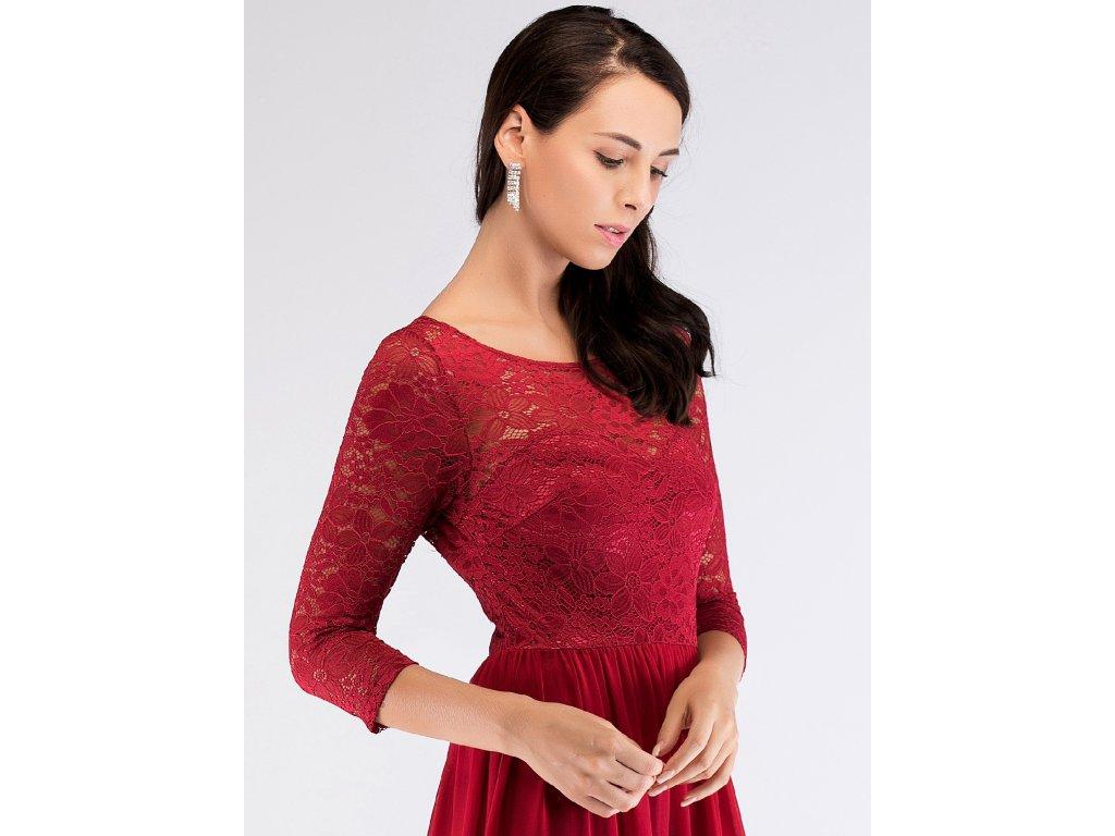 Luxusní červené šaty s krajkou 7680 - trendy-obleceni.cz 3837f816e23