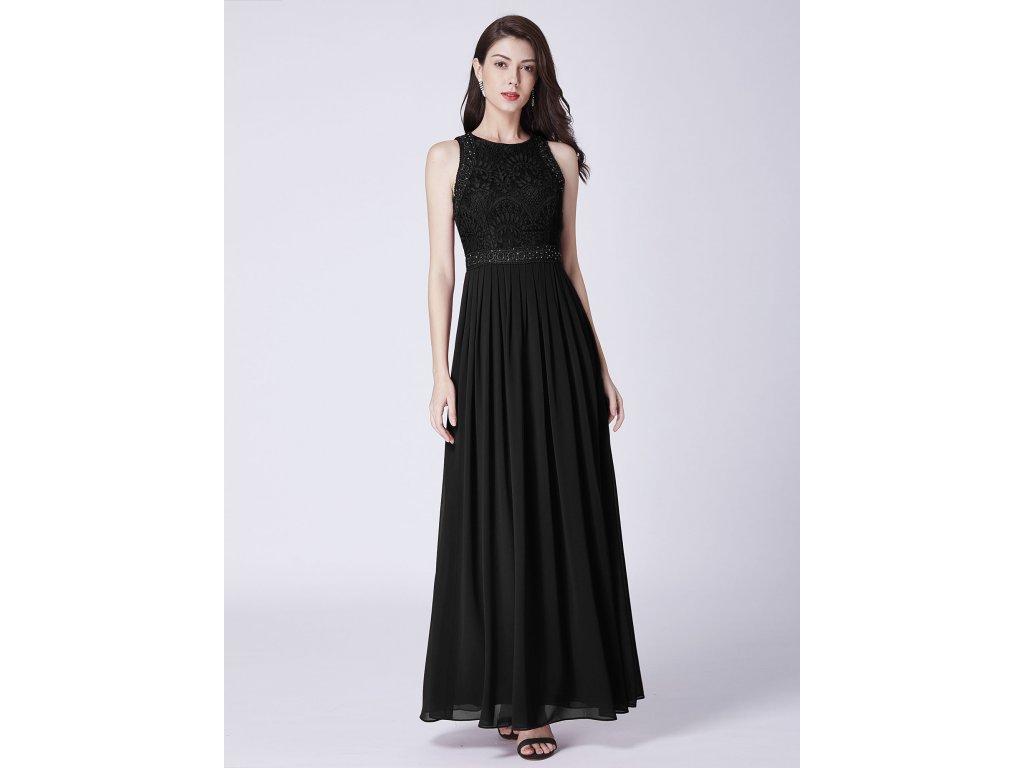 Plesové černé šaty dlouhé