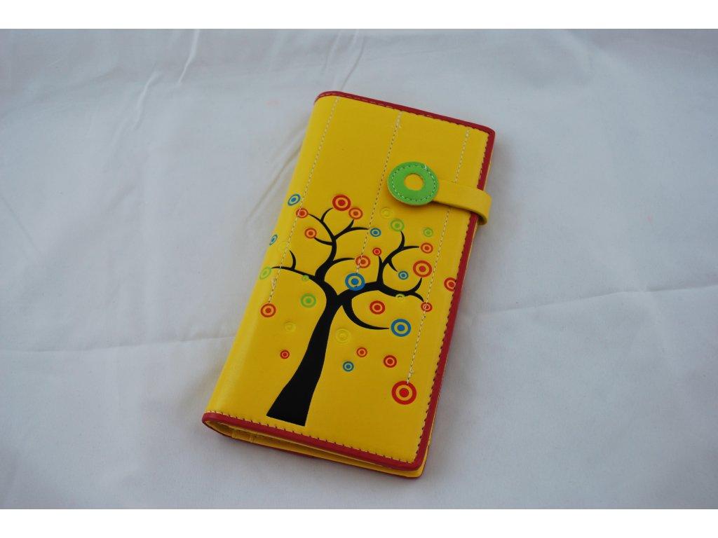 A Dámská peněženka žlutá se stromem