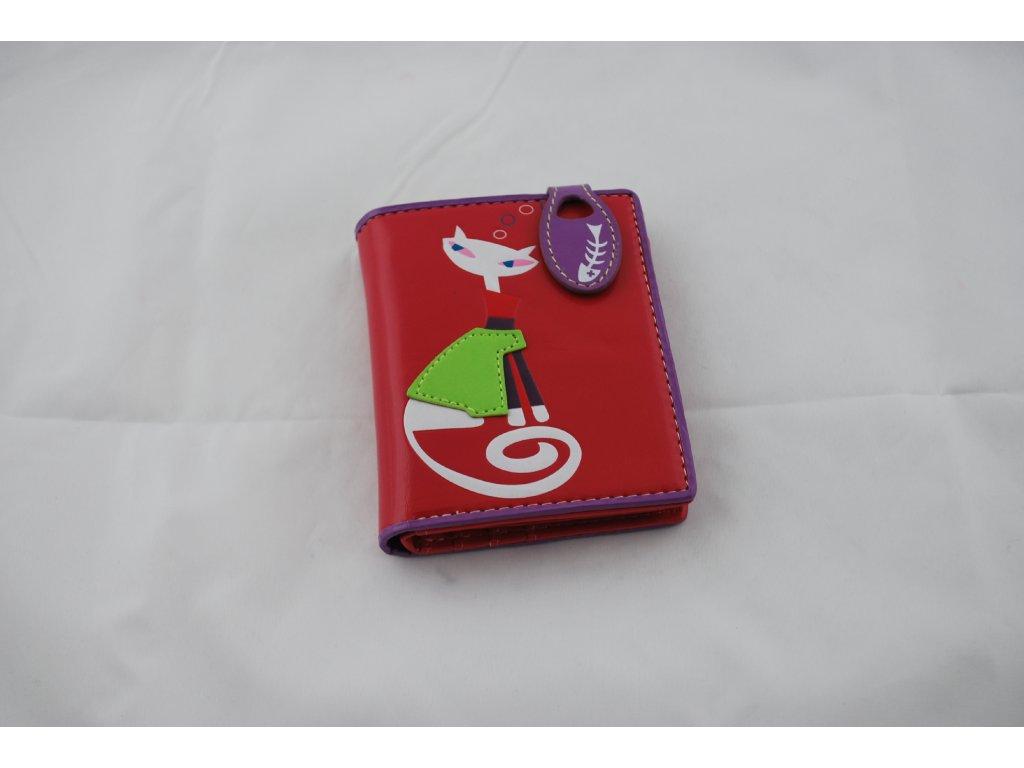A Dámská peněženka růžová s kočkou