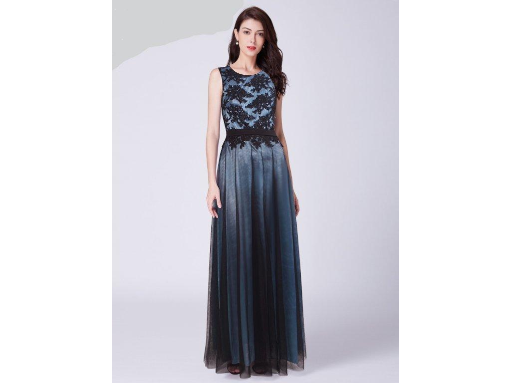 Modré šaty Ever Pretty 7545 - trendy-obleceni.cz bb47b23205